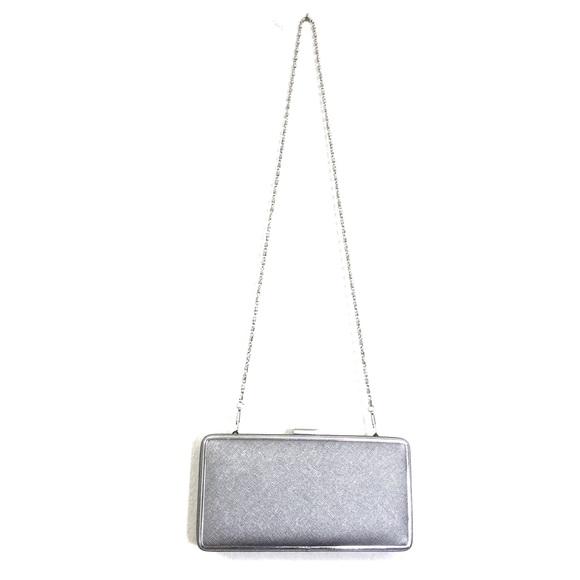 Nordstrom Silver Metallic Convertible Box Clutch. M 5a84cfbe739d4878b96567e0 df8c6bd0f203a